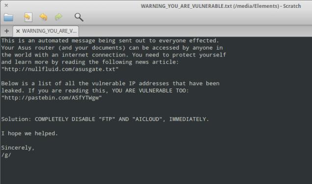 Asus Vulnerability Warning