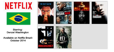 Denzel Washington - Streaming on Netflix Brazil October 2014