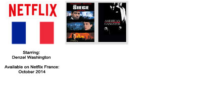 Denzel Washington - Streaming on Netflix France October 2014