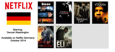 Denzel Washington - Streaming on Netflix Germany October 2014