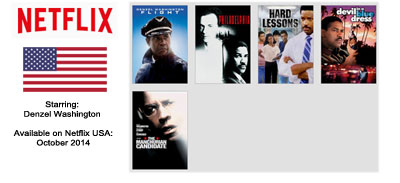 Denzel Washington – Streaming on Netflix USA October 2014