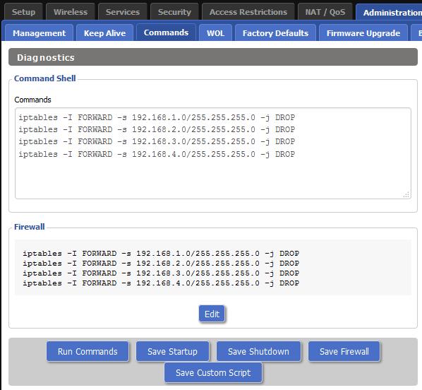 VLAN-howto 6 firewall commands