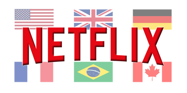 Netflix Comparison by Country - US, UK, Netherlands, Mexico, Brazil, Canada